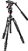 Manfrotto Stativkit Befree Advanced Live Twist Alu Svart med videohode